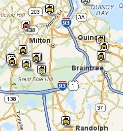 Search Quincy Mass Area Properties by Map